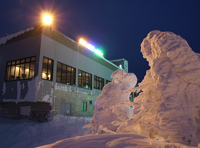 樹氷ライトアップ