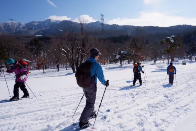 山形市野草園スノーハイク体験ツアー