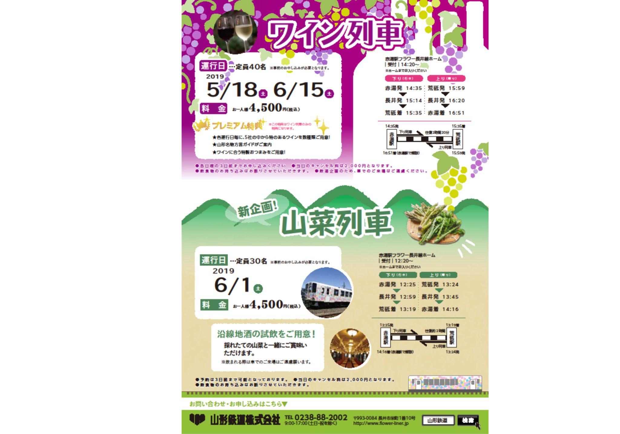 ワイン列車 フラワー長井線