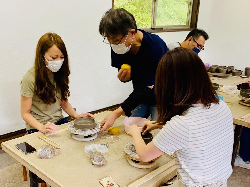 「ながせ陶房」で自分だけの陶芸作品づくり♡ 手回しろくろでつくる山寺焼体験