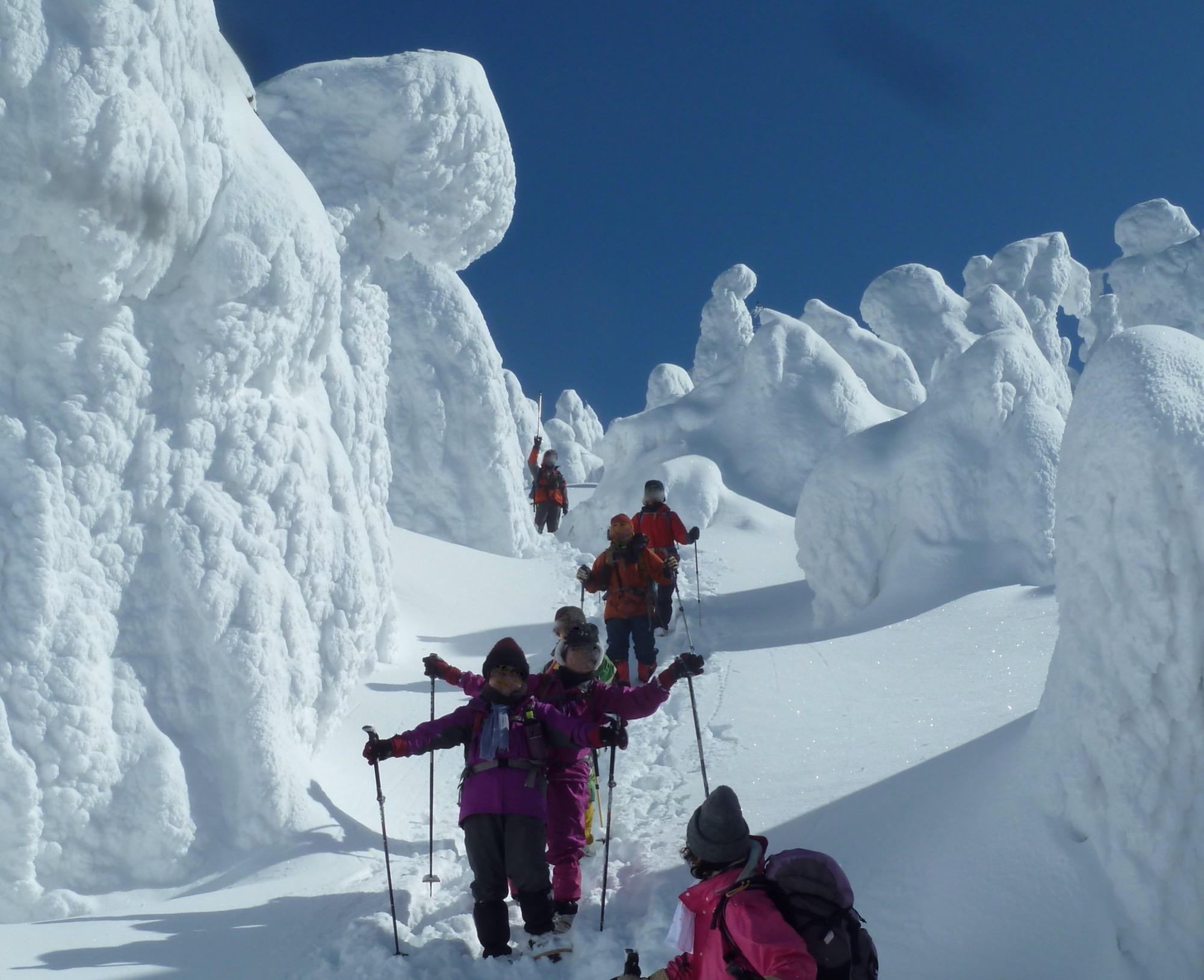 蔵王山岳インストラクターがご案内!樹氷☆霧氷を楽しみながらのかんじきスノートレッキング