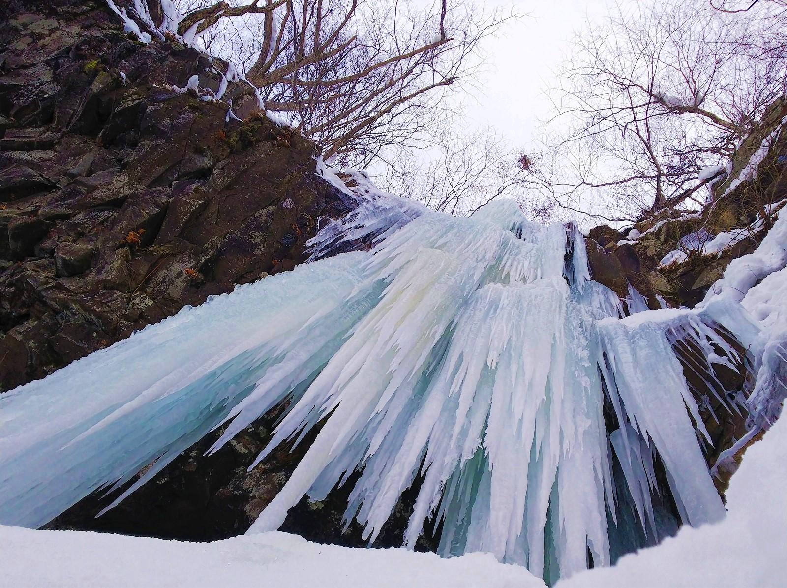 【特集記事】真冬の芸術作品を観に行こう!~蔵王連峰 瀧山大滝の氷瀑~
