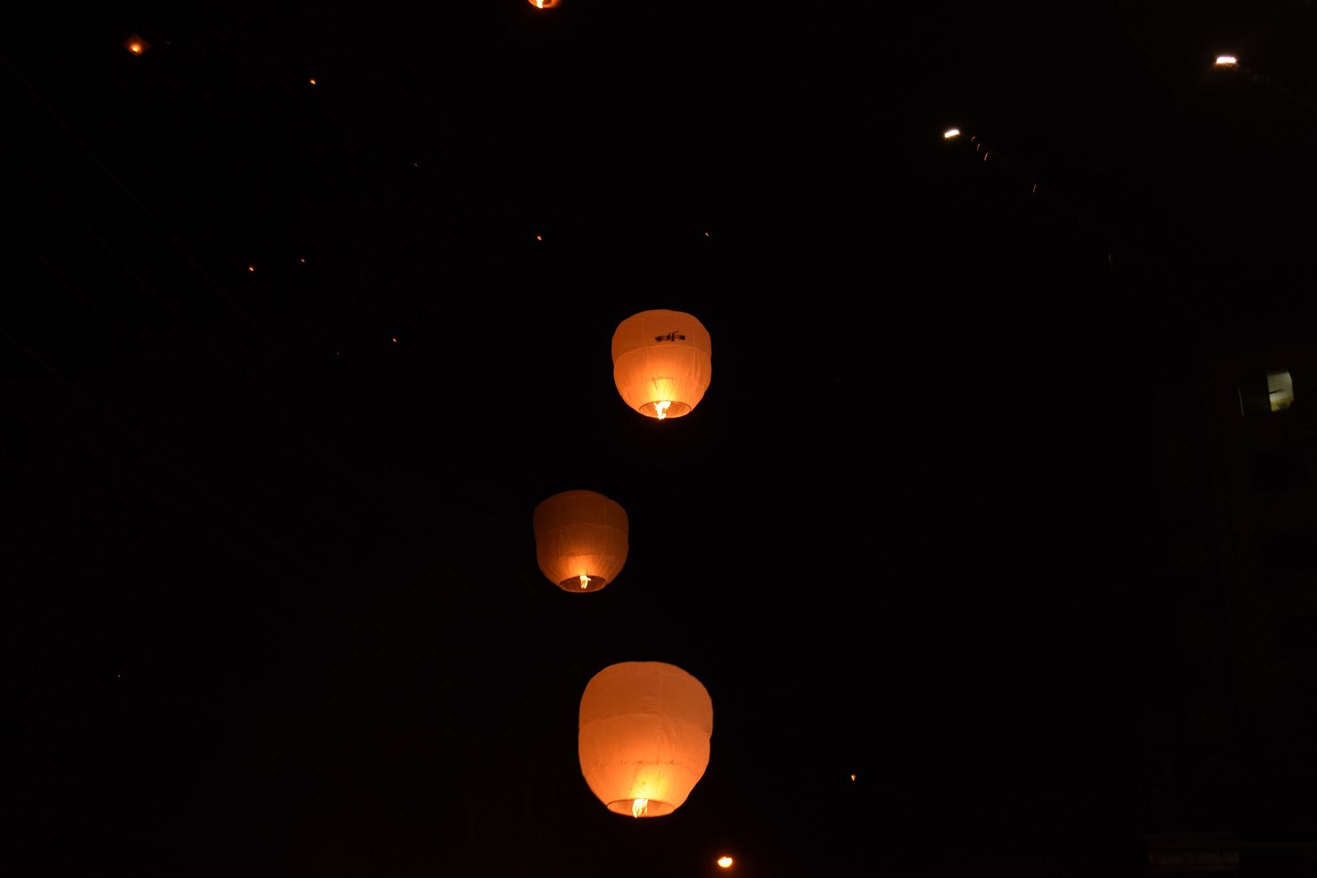 肘折温泉・七夕 LEDスカイランタンフェスタ ー七夕の夜に願いを込めてー